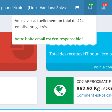 Notifications from the Ecomail mailbox